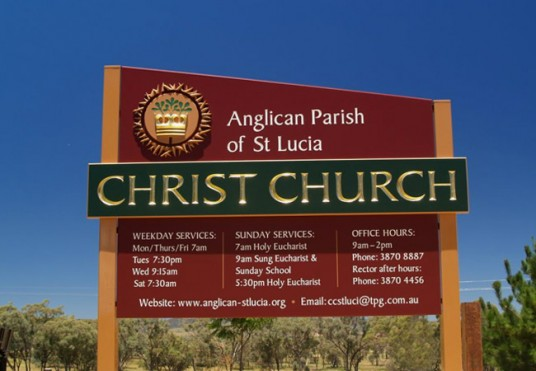Christ Church St. Lucia Sign System