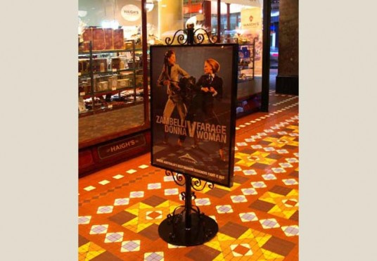 Strand Arcade Poster Stand Retail Sign