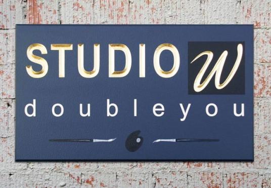 Studio W Business Sign