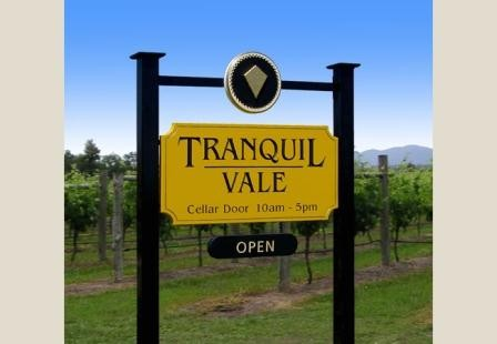 Tranquil Vale Winery Sign