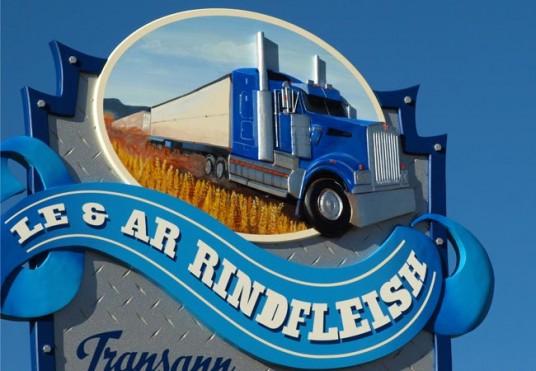 Transann Trucking Rural Business Sign