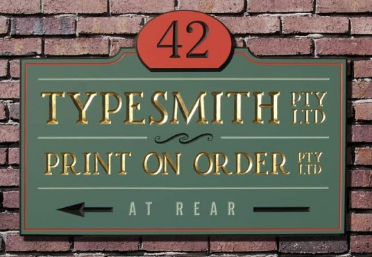 Typesmith Business Sign