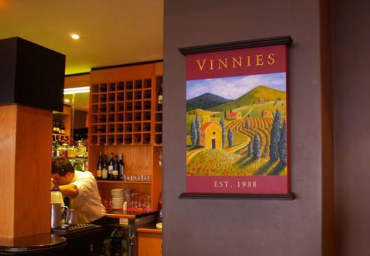 Vinnies Club Sign