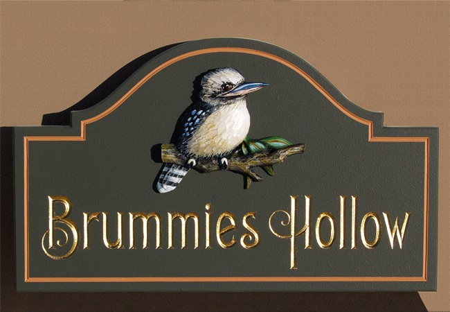 Brummies hollow house sign danthonia designs au for House sign designs