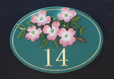 Blossoms '14' House Sign