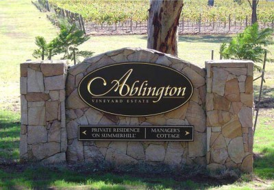 Ablington Monument Winery Sign