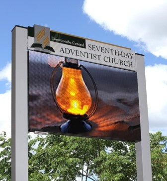 Toowoomba Central Seventh Day Adventist Church LED sign