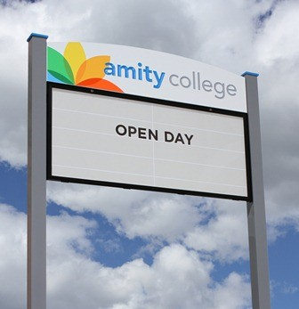 Amity_College_message_board_sign