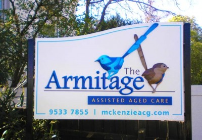 The Armitage Aged Care Sign
