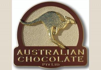Australian Chocolate Business Sign