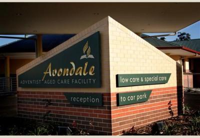 Avondale Aged Care Sign