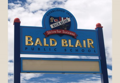 Bald Blair Public School Sign
