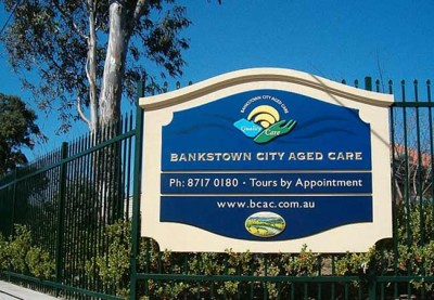 Bankstown City Aged Care Sign