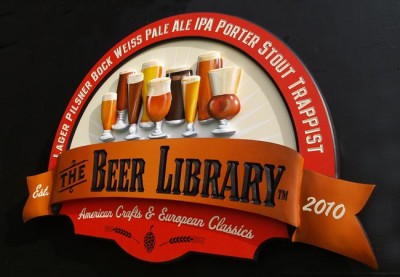 The Beer Library Pub Sign
