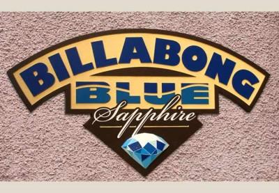 Billabong Blue Sapphire Business Sign