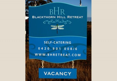 Blackthorn Hill Retreat B&B Sign