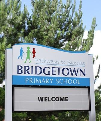 Bridgetown Primary School Message Board sign