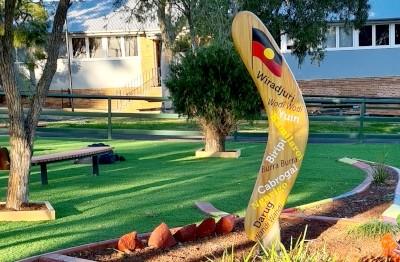 school-boomerang-sculpture-indigenous-language-sydney