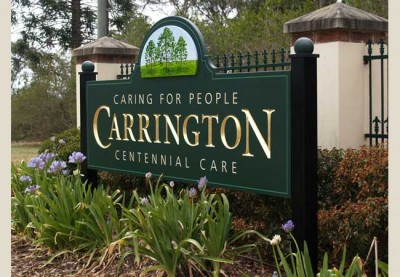 Carrington Aged Care Sign System