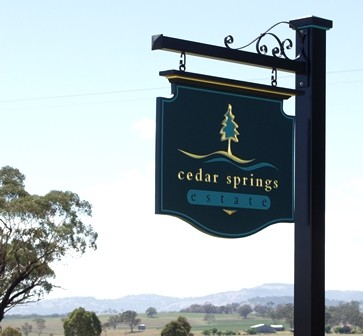 Cedar Springs Property Sign
