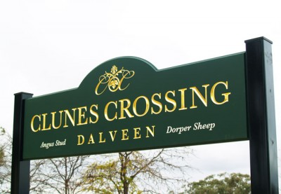 Clunes Crossing Property Sign
