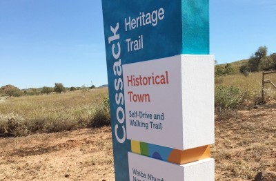 Cossack_Heritage_Trail_sign_for_City_of_Karratha
