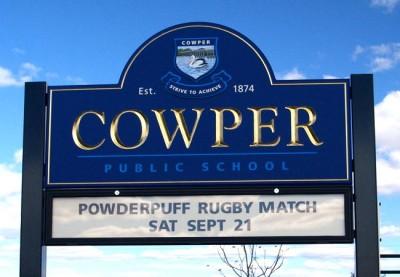 Cowper Public School Sign