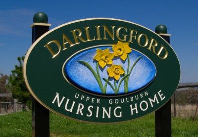 Darlingford Aged Care Sign