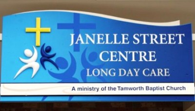 Janelle Street Centre sign