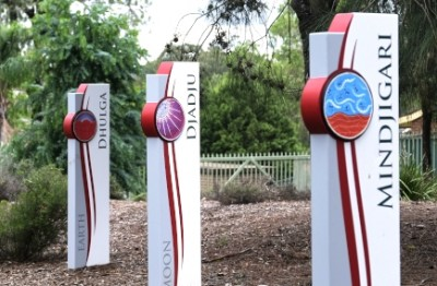 sydney-school-totems-with-aboriginal-artwork