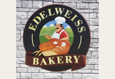 Edelweiss Bakery Cafe Sign