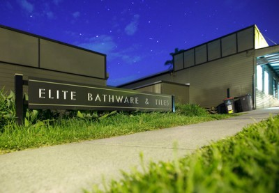 Elite Bathware & Tiles Business Sign