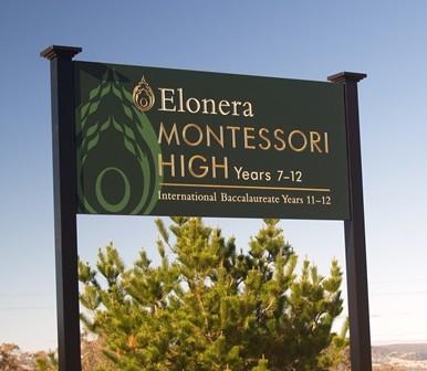 Elonera Montessori School Sign