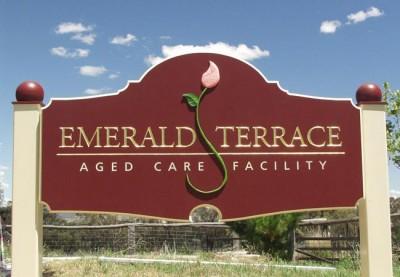 Emerald Terrace Aged Care Sign