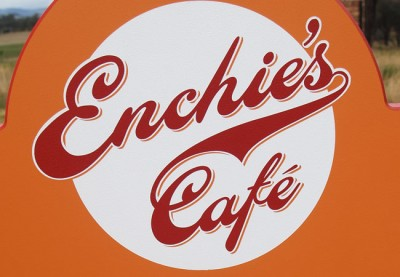 Enchie's Cafe Sign
