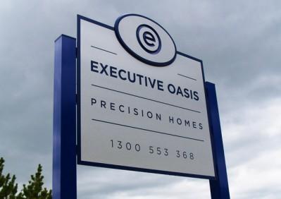 Executive Oasis Business Sign