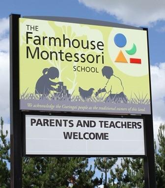 Farmhouse Montessori Messageboard Sign
