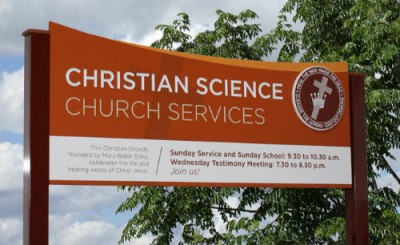 First Church of Christ, Scientist, Waverley Entrance sign
