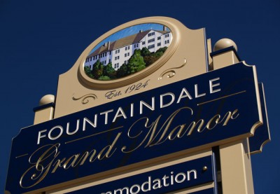 Fountaindale Motel Sign