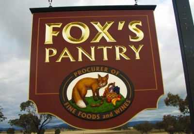 Fox's Pantry Business Sign