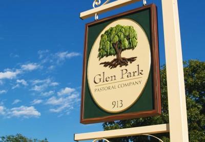 Glen Park hand carved sign