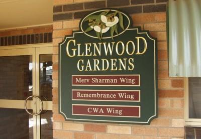 Glenwood Gardens Aged Care Sign