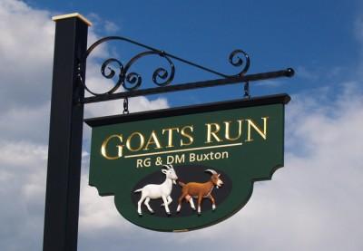 Goats Run Property Sign
