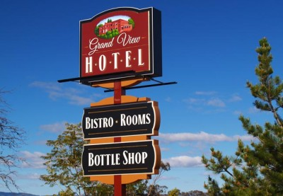 Grand View Hotel Pub Sign
