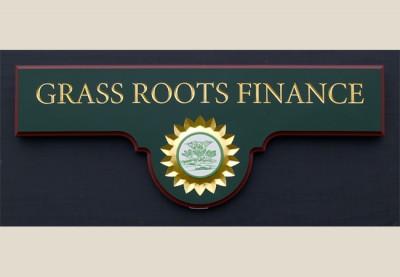 Grass Roots Business Sign