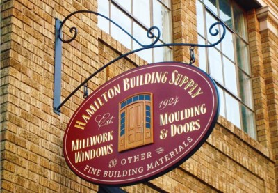 Hamilton Building Supply Business Sign