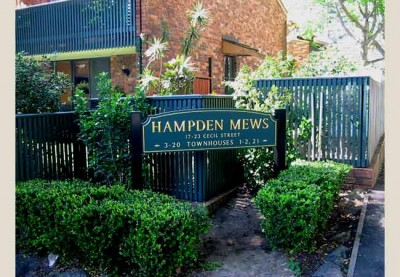 Hampden Mews Development Sign