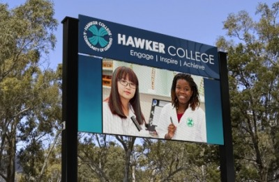 hawker-college-electronic-sign