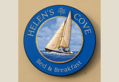 Helen's on the Cove B&B Sign