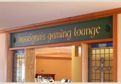 Harrigan's Gaming Lounge Club Sign